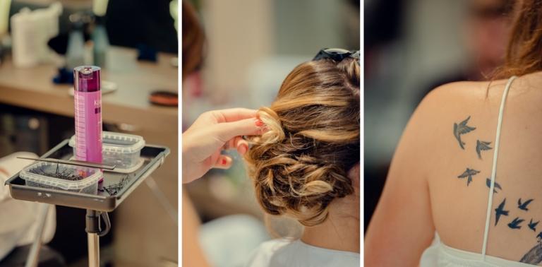 preparatifs mariée coiffure