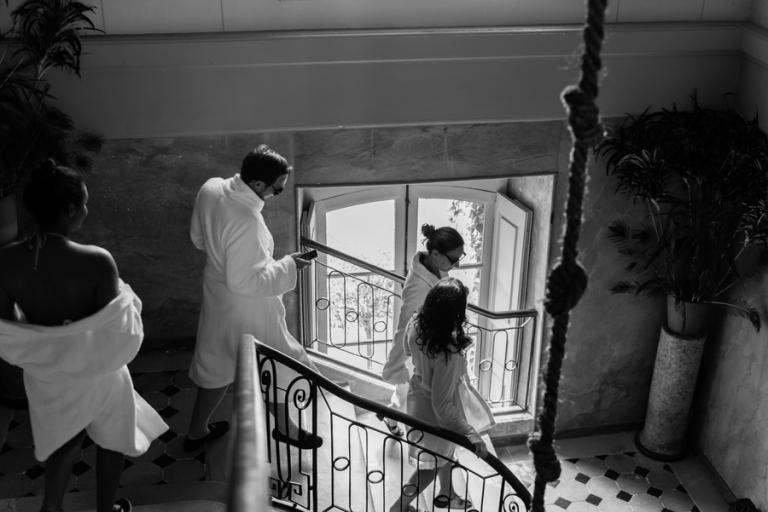 moment de détente mariage au chateau des briottières